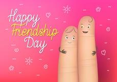 Szczęśliwy przyjaźń dnia plakat Obrazy Stock
