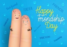 Szczęśliwy przyjaźń dnia plakat Zdjęcia Royalty Free