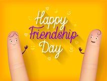 Szczęśliwy przyjaźń dnia plakat Zdjęcie Royalty Free