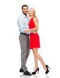 szczęśliwy przytulania pary Zdjęcia Stock