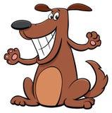 Szczęśliwy psi zwierzęcia domowego postać z kreskówki Zdjęcie Stock