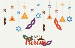 Szczęśliwy Purim, żydowska wakacje karta Zdjęcie Stock