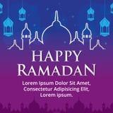 Szczęśliwy Ramadan Fotografia Royalty Free