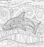 Szczęśliwy rekin z wysokimi szczegółami Zdjęcia Royalty Free