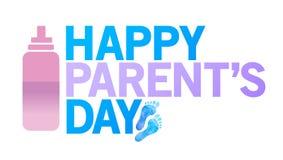 szczęśliwy rodzica dnia znak szczęśliwe stopy ilustracja wektor