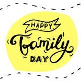 Szczęśliwy Rodzinny dnia literowanie ilustracja wektor