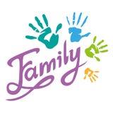 Szczęśliwy rodzinny literowanie Obraz Stock