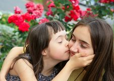 Szczęśliwy rodzinny moment fotografia stock