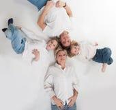 Szczęśliwy rodzinny okrąg Obrazy Royalty Free