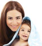 Szczęśliwy rodzinny portret zdjęcia stock