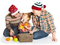 Szczęśliwy rodzinny portreta ono uśmiecha się Obrazy Stock