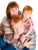 Szczęśliwy rodzinny portreta ono uśmiecha się Zdjęcia Royalty Free