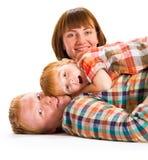 Szczęśliwy rodzinny portreta ono uśmiecha się Fotografia Stock