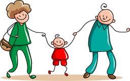 Szczęśliwy rodzinny publiczny występ Obraz Stock