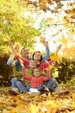 Szczęśliwy rodzinny spacer Obraz Royalty Free