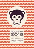 Szczęśliwy 2016 - rok małpa Zdjęcia Royalty Free