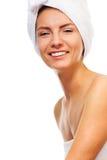 Szczęśliwy roześmiany kąpielowy piękno Obraz Royalty Free