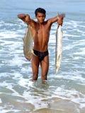 Szczęśliwy rybak. zdjęcia stock