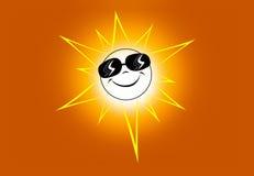 szczęśliwy słońce Fotografia Stock