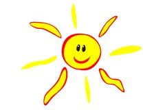szczęśliwy słońce Zdjęcie Stock