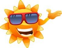 Szczęśliwy słońce charakteru seans royalty ilustracja