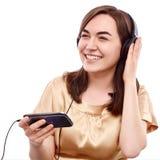 Szczęśliwy słuchacz zdjęcie royalty free