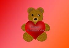 szczęśliwy s miś pluszowy valentine Obraz Stock
