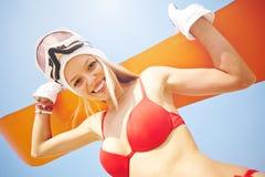 Szczęśliwy sandboarder Zdjęcie Royalty Free