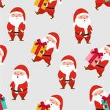 Szczęśliwy Santa wzór tekstura bezszwowy wektor ilustracja wektor