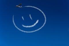 Szczęśliwy smiley w niebie royalty ilustracja