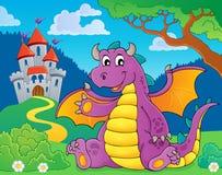 Szczęśliwy smoka tematu wizerunek 4 Zdjęcie Royalty Free
