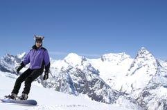 szczęśliwy snowboarder Zdjęcie Stock