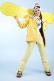 szczęśliwy snowboarder Zdjęcie Royalty Free