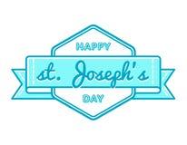 Szczęśliwy St Josephs dnia powitania emblemat Zdjęcie Stock