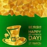 Szczęśliwy St Patrick dnia kartka z pozdrowieniami ilustracja wektor
