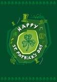 Szczęśliwy St Patrick dnia lajkonika projekta pojęcie Editable klamerki sztuka ilustracja wektor