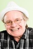 Szczęśliwego mężczyzna portreta definici zieleni wysokiego tła istni ludzie Obraz Royalty Free