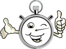 szczęśliwy stopwatch royalty ilustracja