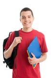 szczęśliwy studencki nastolatek Fotografia Royalty Free