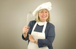 szczęśliwy szef kuchni senior Zdjęcie Royalty Free
