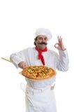 Szczęśliwy szefa kuchni zatwierdzenie obrazy stock