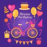 szczęśliwy sztandaru urodziny Obraz Stock