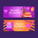 szczęśliwy sztandaru urodziny Zdjęcie Royalty Free