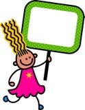 Szczęśliwy Szyldowy dzieciak ilustracji