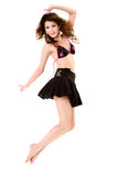 szczęśliwy tańczący skok Obraz Stock