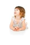 Szczęśliwy target831_0_ małej dziewczynki Zdjęcia Stock