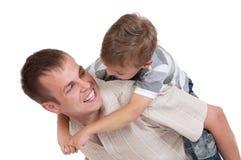 szczęśliwy tata syn obraz stock