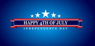 Szczęśliwy 4th Lipa usa dzień niepodległości Obrazy Royalty Free