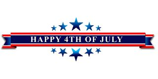 Szczęśliwy 4th Lipa usa dzień niepodległości Obraz Royalty Free