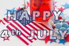 Szczęśliwy 4th Lipiec, dnia niepodległości pojęcie obrazy royalty free